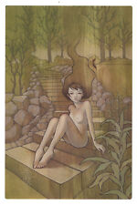 Audrey Kawasaki Overlap Book Page = Frame it anyway you want!
