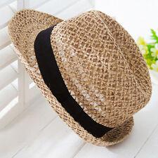 Women Summer Travel Straw hat Bohemian British Jazz Hats Sun Hat Solid Caps