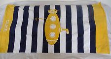 """Pottery Barn Kids Classic Rugby Yellow Submarine Beach Towel """"Duke"""" Nwot Nla"""