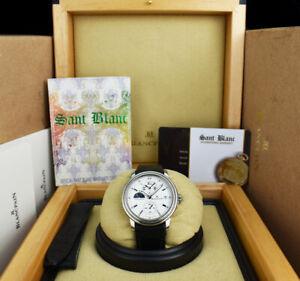 BLANCPAIN 36mm Stainless Leman Dual Time Day & Night 2160-1127-53 SANT BLANC