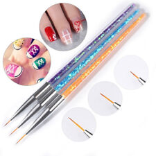 Nail Art Liner Brush Fine Detail Line Drawing Pen Rhinestone Manicure Tool Tips