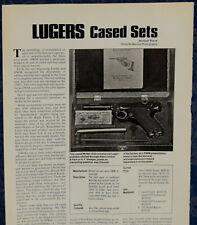 """Vintage ORIGINAL Article """"LUGERS DWM Cased Sets""""  1-p Magazine 1974"""