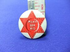 tin badge milky bar kid chocolate confectionery advert advertising club 1960s