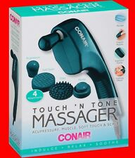 Touch N' Tone MASSAGER Acupressure Soft Touch Scalp Muscle 4 Attachments Teal