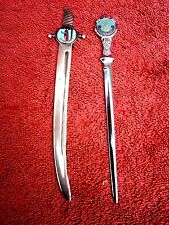 PAIR SOUVENIR LETTER  OPENERS - FORESTER [EPNS A1] AND DALMAR [FAITH & LOYALTY]
