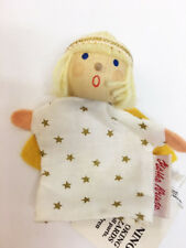 New German Kathy Kruse Wood Head People Finger Puppet Angel