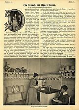 Una visita presso l'attrice Agnes Sorma A Berlino Histor. memorabile 1899