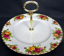 "OLD COUNTRY ROSES 26cm,10"" CAKE / SANDWICH STAND, 1962-02, ENGLAND, ROYAL ALBERT"