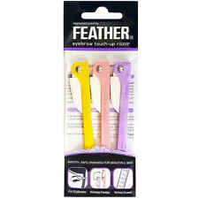 Feather Flamingo Eyebrow Touch-Up Razor 3pcs (RFLM-P)  NEW [Free USA Shipping]