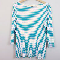 [ TOMMY BAHAMA ] Womens Striped Boat Neck Top  | Size L or AU 14 / US 10