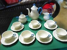 VICTORIA China from CZECHOSLOVAKIA Set 7 CUPS & SAUCERS-Tea Pot-SUGAR & CREAMER