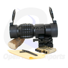 3X Magnifier Sight Scope with flip-up Mount Quick Release Fast Shipping
