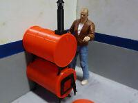 Scale Barrel Heater Stove Kit 1/10 Shop Action Figure Crawler Dollhouse Diorama