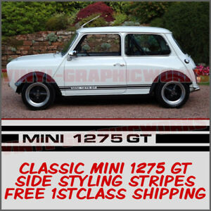 Classic Mini Cooper 1275 GT Clubman Side Stripes Decals Graphic