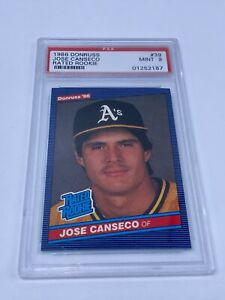 🔥1986 Donruss - Jose Conseco Rated Rookie #39 Oakland A's - PSA 9 MINT🔥