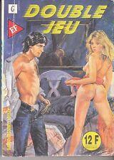 """BD PETIT FORMAT ELVIFRANCE) SERIE GRISE N°28 """"DOUBLE JEU"""" (1991)"""
