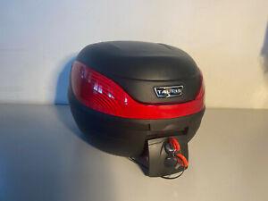 Topcase Universal 30L liter Case Koffer Motorradkoffer schwarz ink Montageplatte