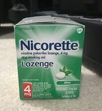 Nicorette Lozenge Mint 4mg 144 Lozenges Exp 12/2021.