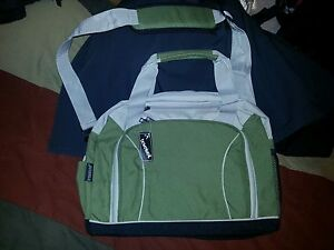 """Travelwell Green 16"""" Laptop Canvas Tote Carry Work Travel Bag"""