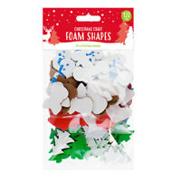 Make Your Own Christmas Cards Red Green Foam Shapes 15 Pack +120 School Craft