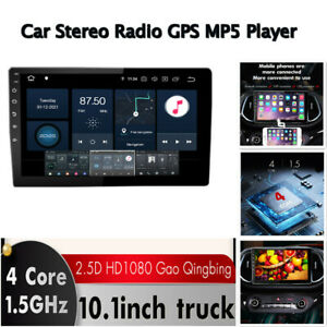 10'' 1DIN Android 10.1 Media Car Stereo Radio Capacitive Touch Screen WiFi 2+32G