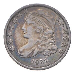 EARLY - 1835 - Capped Bust Dime - Eagle Reverse - TOUGH - US Type Coin *089
