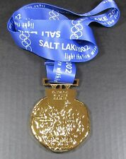 GOLD MEDAL - 2002 SALT LAKE CITY OLYMPICS - WITH SILK RIBBON & STORAGE POUCH
