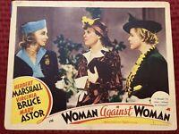Woman Against Woman Original Movie Lobby Card 11x14 MGM 1938