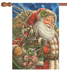 New listing New Toland - Santa and Reindeer - Festive Christmas Holiday House Flag
