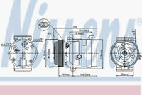 Nissens Compressor 89063 Fit with Renault 21
