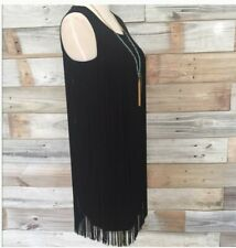Calvin Klein Ladies Black fringe dress US 8