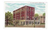 OH Lancaster Ohio antique linen post card Hotel Lancaster View