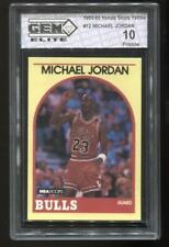 1989-90 NBA HOOPS SEARS YELLOW #12 MICHAEL JORDAN GEM ELITE 10 PRISTINE BULLS