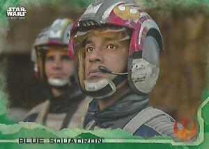 "Star Wars Rogue One Series 1: #37 ""Blue Squadron"" Green Parallel Base Card"