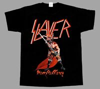 SLAYER SHOW NO MERCY'83 NEW BLACK SHORT/LONG SLEEVE T-SHIRT