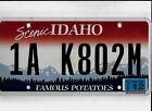 """IDAHO 2013 license plate """"1A K802M"""" ***NATURAL***MOTOR HOME***"""