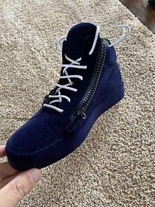 Giuseppe Zanotti Double Zip Mid Top Sneakers Size: 40EU / 7.5US