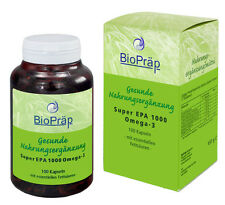Super EPA 1000 Omega-3 Kapseln mit den Fettsäuren EPA & DHA, 100 Stück