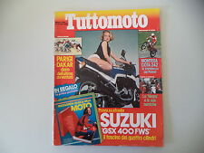 TUTTOMOTO 3/1984 VESPA PK 80 S/MONTESA COTA 242/SUZUKI GSX 400/KAWASAKI Z 750 GT