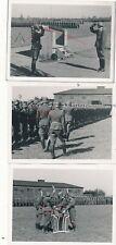 Nr.32707 3 x Foto 2,WK  Deutsche Wehrmacht Vereidigung   9 x 12 cm