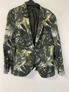NWT Topman $240 Floral Sz:44R Super Skinny Blazer Suit Jacket Slim Hawaiian N207