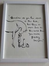 CHARLIE MACKESY FRAMED BOOK EXTRACT.  'THE BOY ,THE MOLE ,THE FOX AND THE HORSE'