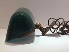 HTF Antique Emeralite Desk Lamp Light Signed Mounted Industrial 1916 Banker