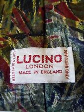 LUCINO RED BLACK & GREEN MIX MENS TIE EXCELLENT CONDITION # 220