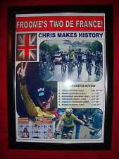 Chris Froome Tour de France winner 2015 - framed print