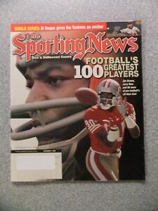 L#907 1999 Sporting News magazine- Jerry Rice, Jim Brown, 100 Greatest Players