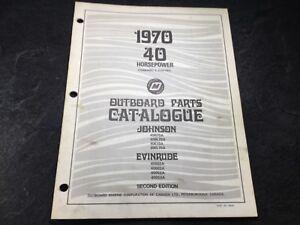 1970 Evinrude & Johnson 40 HP Outboard Parts Manual 40002A 40R70A 40RL70A 40053A