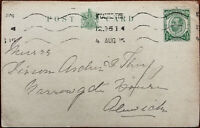 King George V ½ Penny Antique Postcard Posted 4th August 1915
