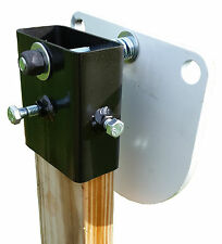 "Hardened Steel Target Hanger, AR500 / Gong 2x4 Target mount (Wide, 1/8"")"