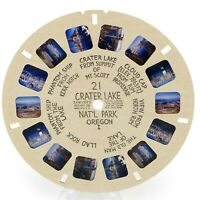 View-Master Reel # 21 Crater Lake Nat'l Park Oregon I Hand Lettered viewmaster